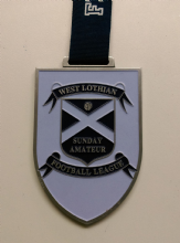 70mm X 11mm Shield Medal with Enamel